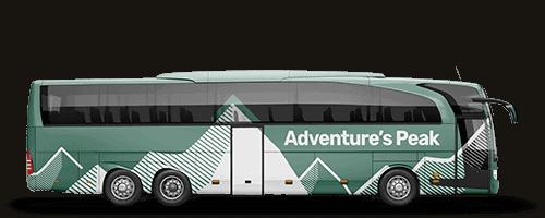 Printed Bus Wrap on a coach