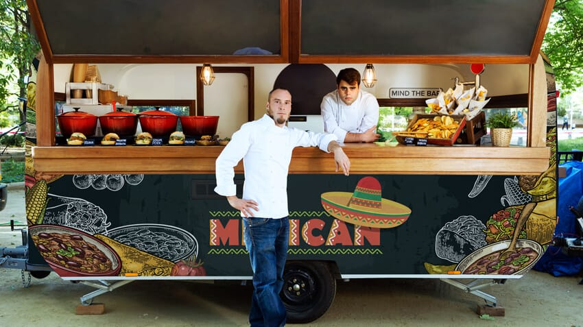 Mexican Food Truck with a printed wrap