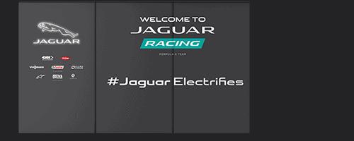 Garage Wall Wrap for Jaguar Racing