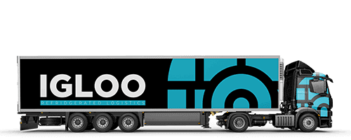 Printed truck wrap on HGV